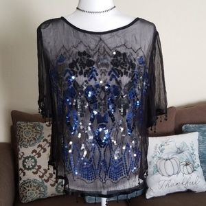 Free People Sequin Top
